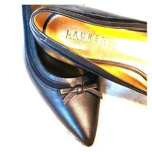 Lauren Ralph Lauren Black Pointed flats NWOT